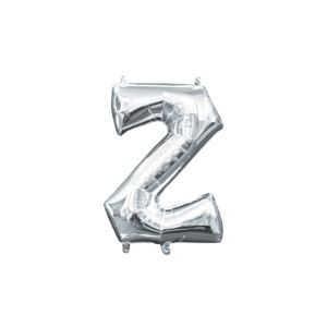 Air-Filled Silver Letter Z Balloon