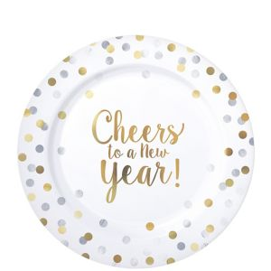 Cheers to a New Year Premium Plastic Lunch Plates 20ct
