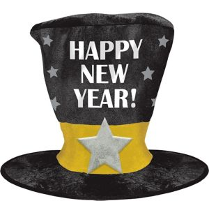 Black, Gold & Silver Giant New Year's Hat