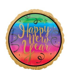Colorful New Year's Balloon