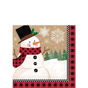 Winter Wonder Snowman Beverage Napkins 16ct