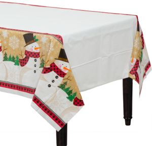 Winter Wonder Snowman Table Cover