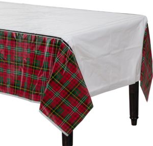 Holiday Plaid Table Covers 3ct