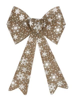 Snowflake Burlap Bow