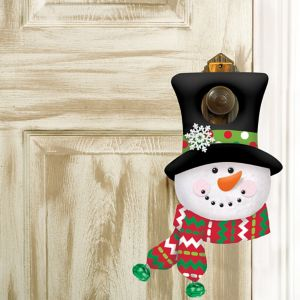 Plush Snowman Door Hanger