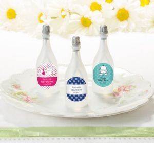 Personalized Baby Bubbles (Printed Label) (Baby Blue, Scallop)