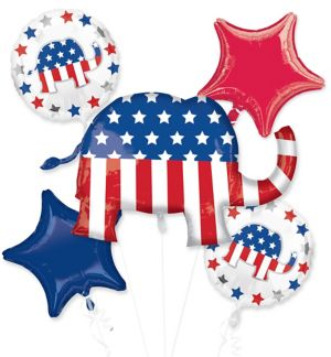 Republican Balloon Bouquet 5pc - Giant Elephant