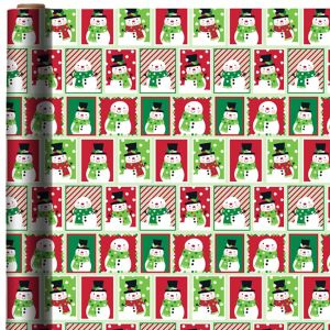 Green & Red Snowman Gift Wrap