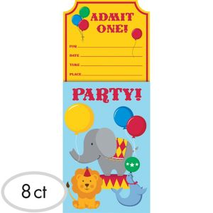 Sliding Carnival Invitations 8ct