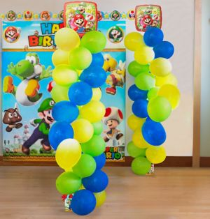 Super Mario Balloon Tower Kit - Makes 2