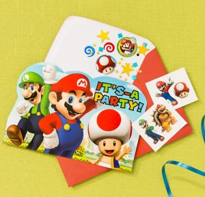 Super Mario Invitation Kit
