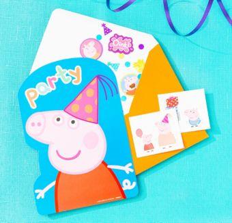 Peppa Pig Invitation Kit
