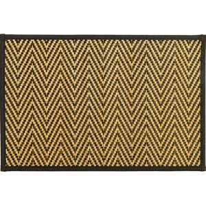 Black Chevron Bamboo Placemat