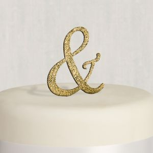 Rhinestone Gold Ampersand Cake Topper
