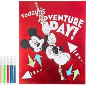 Prismatic Mickey Mouse Coloring Sheet with Markers