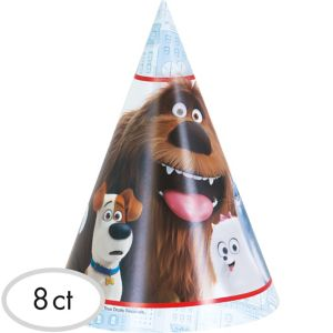 The Secret Life of Pets Party Hats 8ct