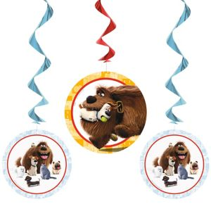 The Secret Life of Pets Swirl Decorations 3ct
