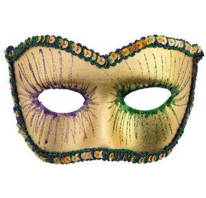 Sequin Mardi Gras Masquerade Mask