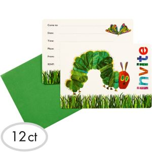 The Very Hungry Caterpillar Invitations 12ct