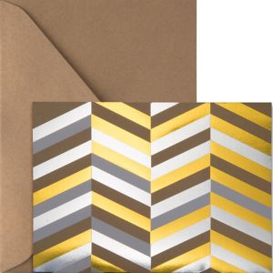 Metallic Gold & Silver Herringbone Note Cards 20ct