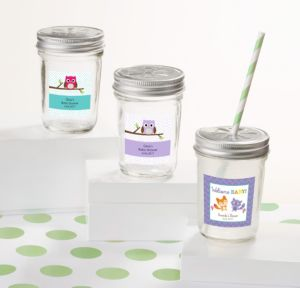 Personalized Baby Shower Sunscreen Wedding Favors (Printed Label) (Woodland)