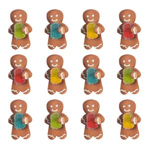 Gingerbread Man Icing Decorations 12ct