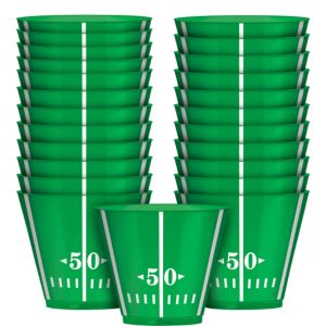 Football Field Plastic Cups 24ct