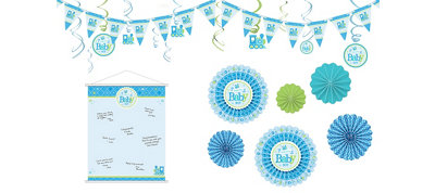 Boy Welcome Little One Decorations Shower Kit