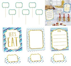 Blue Buffet Decorating Kit 12pc