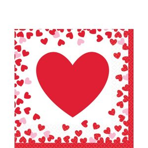 Confetti Hearts Valentine's Day Lunch Napkins 16ct