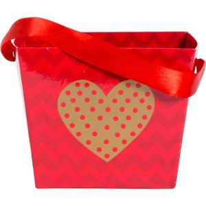 Gold Heart Square Valentine's Day Basket