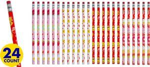 Valentine's Day Smiley Pencils 24ct