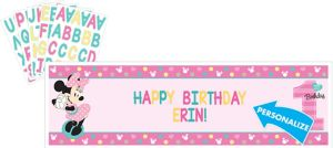Giant 1st Birthday Minnie Mouse Personalized Banner Kit