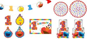 1st Birthday Elmo Room Decorating Kit 10pc