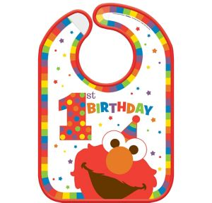 1st Birthday Elmo Bib