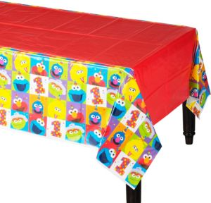 1st Birthday Elmo Table Cover