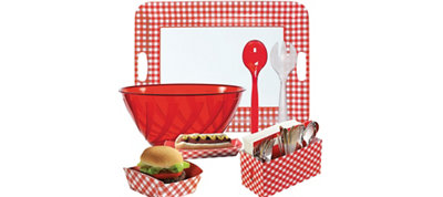 Gingham Serveware Kit