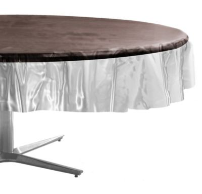 CLEAR Plastic Round Table Cover