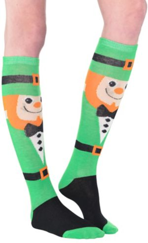 Leprechaun Pot of Gold Knee-High Socks