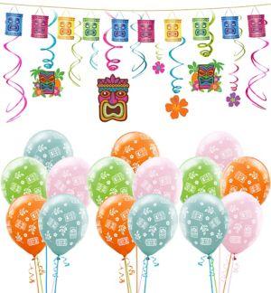 Tiki Decorating Kit with Balloons