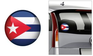 Cuban Flag Decal