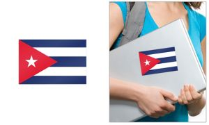 Cuban Flag Cling Decal