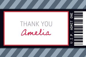 Custom Generic Ticket Thank You Note