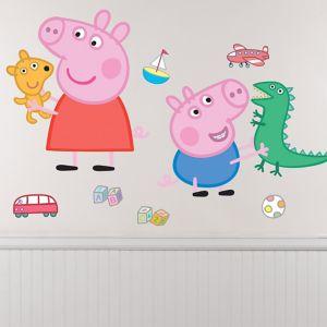 George & Peppa Pig Wall Decals 8ct