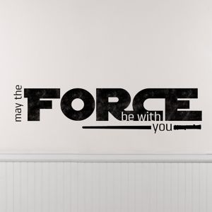 May the Force Be With You Star Wars Wall Decals 6ct