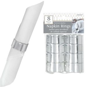 Silver Napkin Rings 8ct