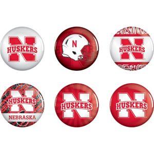 Nebraska Cornhuskers Buttons 6ct