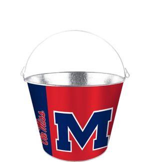Ole Miss Rebels Galvanized Bucket