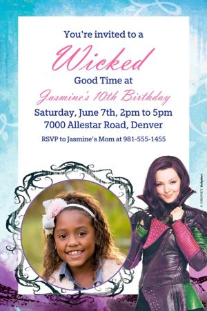 Custom Disney's Descendants Photo Invitation