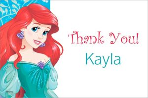 Custom Ariel Thank You Note
